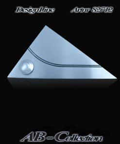 Klingel Dreieck mit geschwungener gestrahlter Rille