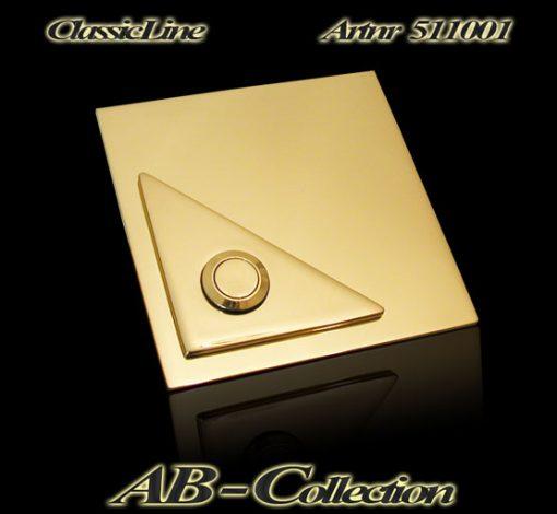 Designer Klingel quadratisch mit dreieckigem Aufsatz