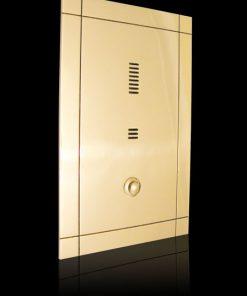 Sprechplatten Serie Mondrian 1 bis 3 Familienhaus massiv Messing zusätzlich gest
