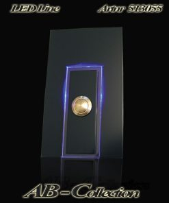 Klingel Messing XXL mit bel LED Glas als Aufsatzleiste
