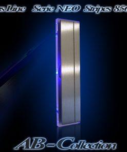 Hausnummer NEO STRIPES Edelstahl mit LED Glasbeleuchtung