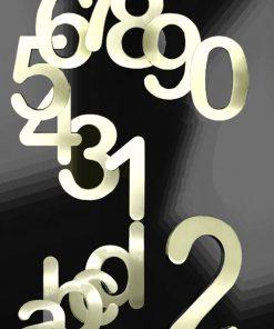 Hausnummer Serie Potsdam massiv 3mm Messing