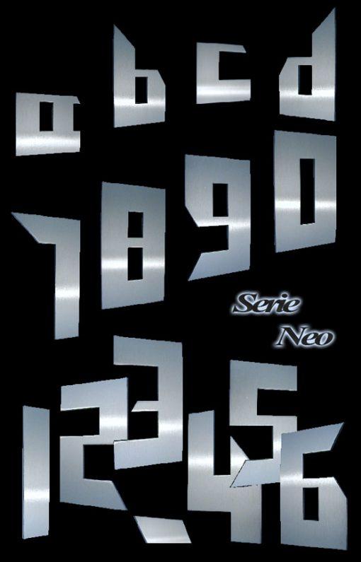Hausnummer Serie Neo Edelstahl in 3 Größen