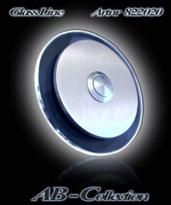 Klingelplatte rund mit 6mm LED Glasplatte
