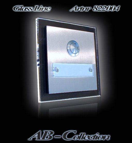 Klingelplatte mit Namensschild und LED Glasplatte
