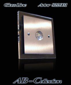 Klingel Illumina-1 Edelstahl auf UP Dose mit LED beleuchteter Glasplatte
