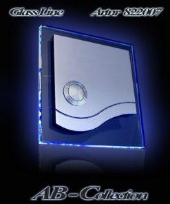 Glasklingel mit Welle und LED Glasplatte