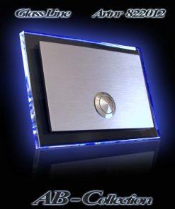 Glasklingel Rechteck mit LED Glasplatte neutral