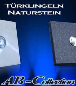 Türklingel Marmor weiß quadratisch