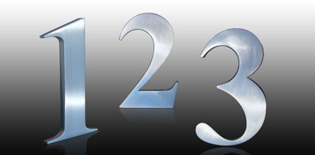 Hausnummer Serie CLASSIC    Edelstahl