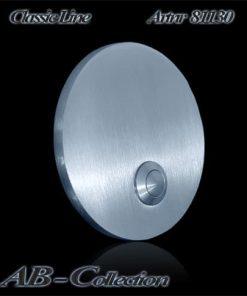 Klingelplatte rund massiv 6mm Edelstahl Artnr.: 81130 Maße: 90 mm