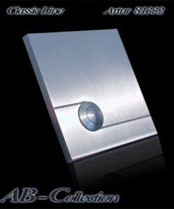 Klingel quadratisch zusätzlich gestrahlt massiv 6mm Edelstahl Artnr 81332