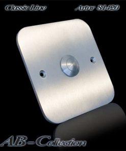 Klingel Edelstahl  quadratisch auf Unterputzdose mit genormtem Schraubabstand 60 mm Artnr.: 81420