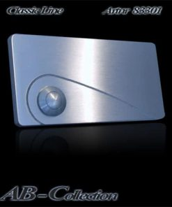 Klingel  mit gestrahltem Zierbogen massiv 6mm Edelstahl