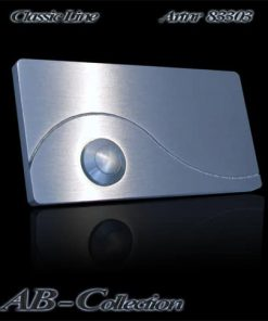 Klingel massiv 6mm Edelstahl zusätzlich mit gestrahlter Zierwelle Artnr: 83303