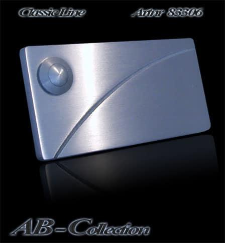 Klingel mit gestrahltem Diagonalbogen massiv 6mm Edelstahl Artnr: 83306