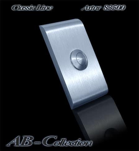 Klingelplatte Classic mit gerundeten Kanten massiv 6mm Edelstahl Artnr 83500