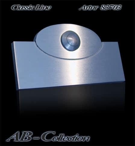 Klingel mit elliptischem Aufsatz massiv 6mm Edelstahl Artnr 83703