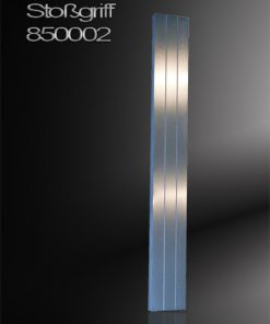 Stoßgriff Stab rechteckig mit 2 gestrahlten Linien Edelstahl