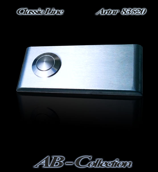 Klingelplatte Classic schlank mit gerundeten Kanten (NEU) 6 mm Edelstahl Artnr 83520