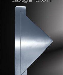 Stoßgriff Leiste mit angesetztem Dreieck gestrahlt Edelstahl