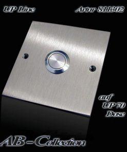Klingel Edelstahl quadratisch  zur Montage auf UP-Dose 70mm
