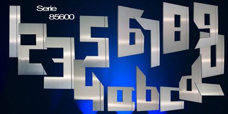 Hausnummer Serie   Neo Stripes Edelstahl