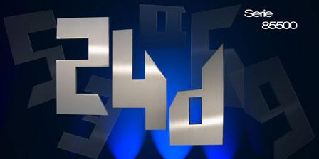 Hausnummer Serie Neo Edelstahl kubische Hausnummer