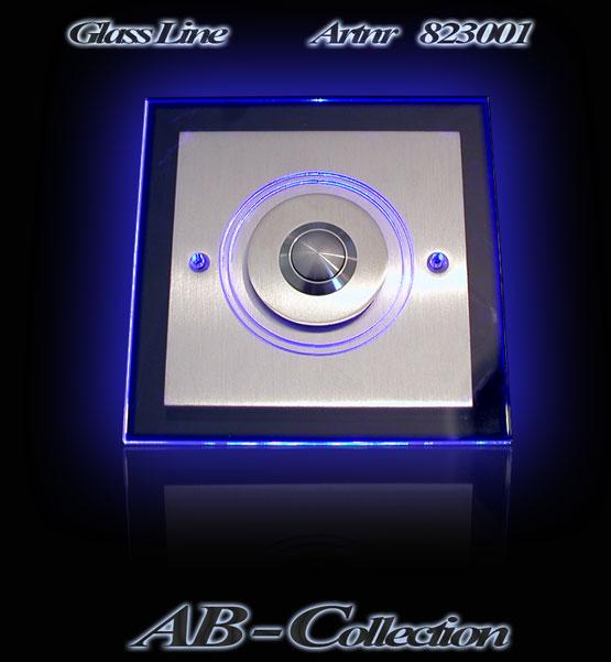 Edelstahlklingel rund mit LED Aufsatzplatte