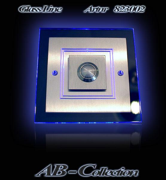 Edelstahlklingel Karo mit LED Aufsatzplatte