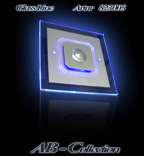 Edelstahlklingel Achteck mit LED Aufsatzplatte