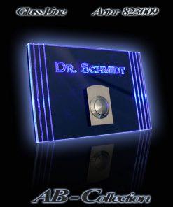 Edelstahlklingel Colonna mit LED Aufsatzplatte incl. Gravur