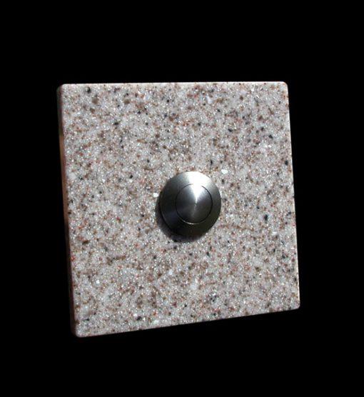 Klingel Granit Imitat quadratisch beige