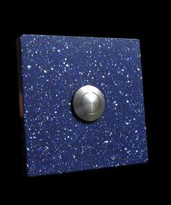 Klingel Granit Imitat quadratisch blau