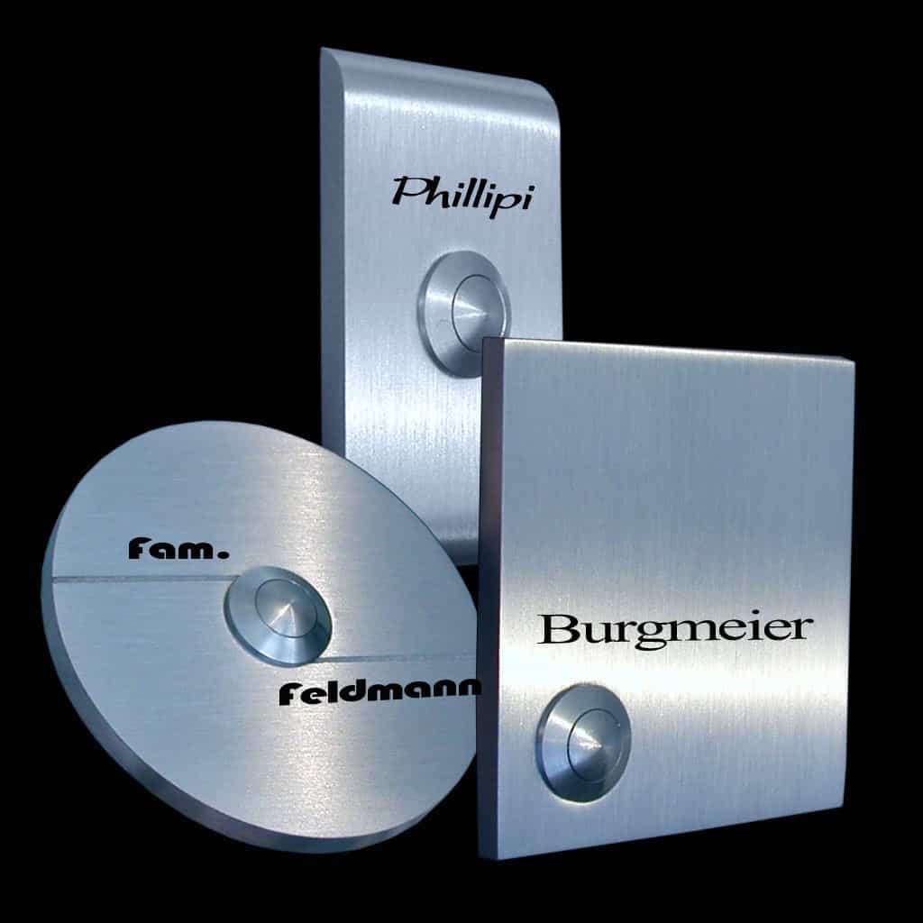 Designer Klingeln 6mm Materialstärke