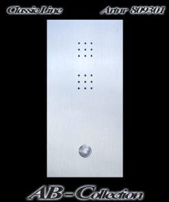 Sprechplatten Serie NEW LINE Edelstahl vom Ein- bis 3 Familienhaus