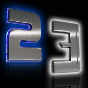Hausnummer Serien LED beleuchtet