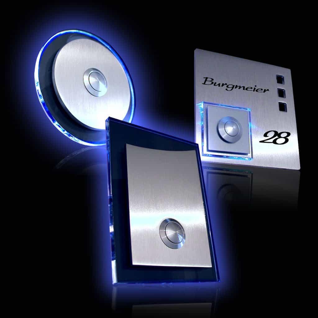 Klingeln mit Acrylglas und LED Beleuchtung