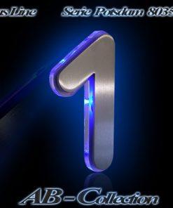 Hausnummer POTSDAM Edelstahl mit Glasbeleuchtung