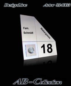 Klingel Serena Edelstahl gestrahlt mit bel. LED Glasaufsatz