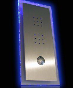 Sprechplatte Illumina massiv Edelstahl mit LED Rückplatte
