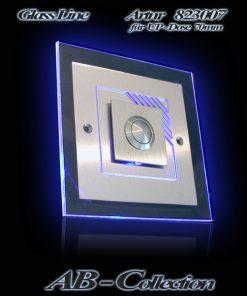 Edelstahlklingel Tropea mit Glas Aufsatzplatte