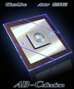 Edelstahlklingel Cross Line mit LED Aufsatzplatte