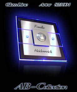 Edelstahlklingel Double Line mit LED Aufsatzplatte