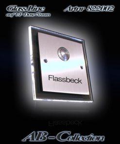 Klingel Edelstahl Illumina-2 auf UP Dose mit beleuchteter LED Glasplatte