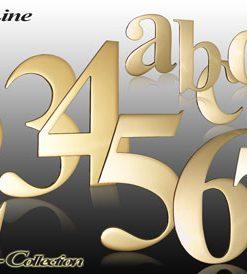Hausnummern Serie  Classic Messing