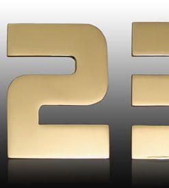 Hausnummer Serie DESIGNER Messing