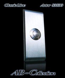 Klingelplatte Classic schlank mit gerundeten Kanten (NEU) 6 mm Edelstahl