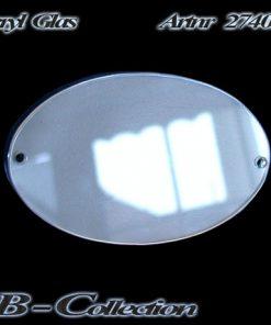 Acrylglasschild Ellipse zur manuellen Beschriftung