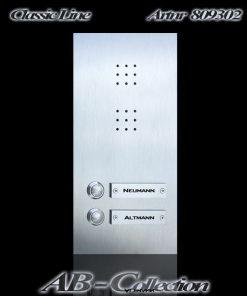 Sprechplatte NEW LINE Zweifamilienhaus Edelstahl
